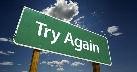 Zkuste to znovu... a znovu a znovu, dokud neuspějete