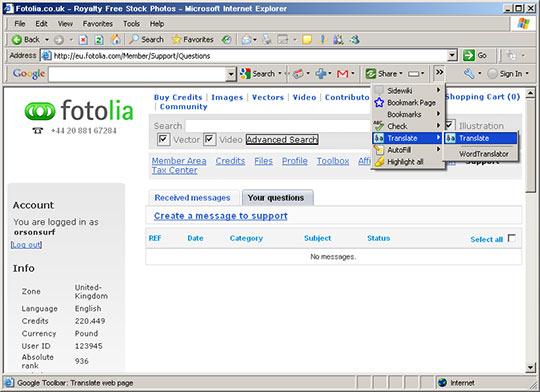 Google toolbar - kde nastavit překlad
