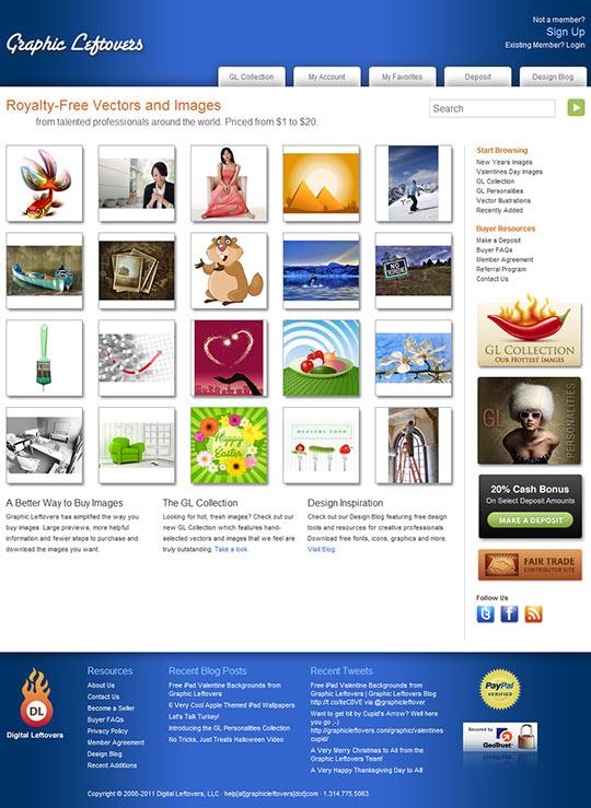 Graphic Leftovers - domovská stránka