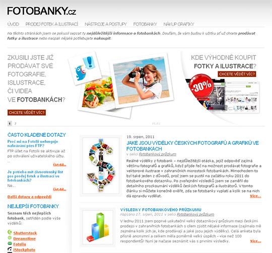 Fotobanky.cz - domovská stránka fotobankového magazínu