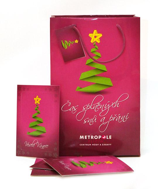 Má ilustrace vánočního stromku jako hlavní vánoční motiv Metropole Zličín