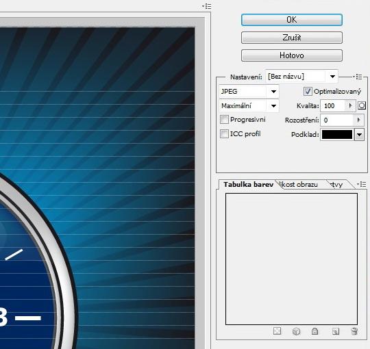 Ukázka chybného generování JPG funkcí Save for Web and Devices u Illustratoru CS5