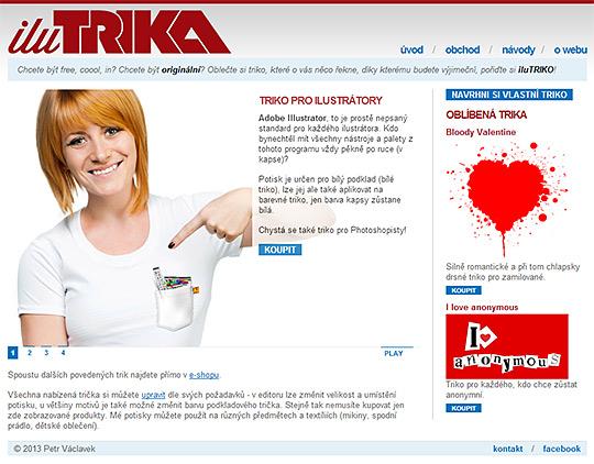 iluTRIKA - domovská stránka obchodu s originálními tričky