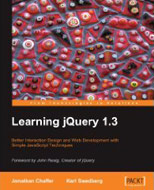 Jonathan Chaffer, Karl Swedberg: Learning jQuery 1.3