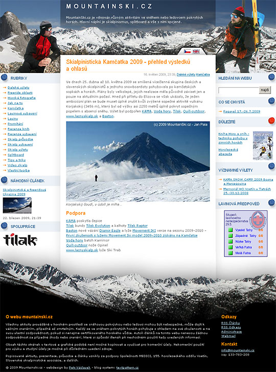 Mountainski.cz - blog o skialpinismu